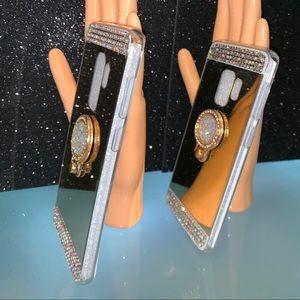 Galaxy S9 Plus Rhinestone Mirror Case.
